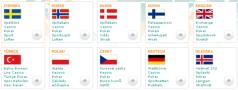 Betsson sports betting site is available in 17 languages - select as you enter